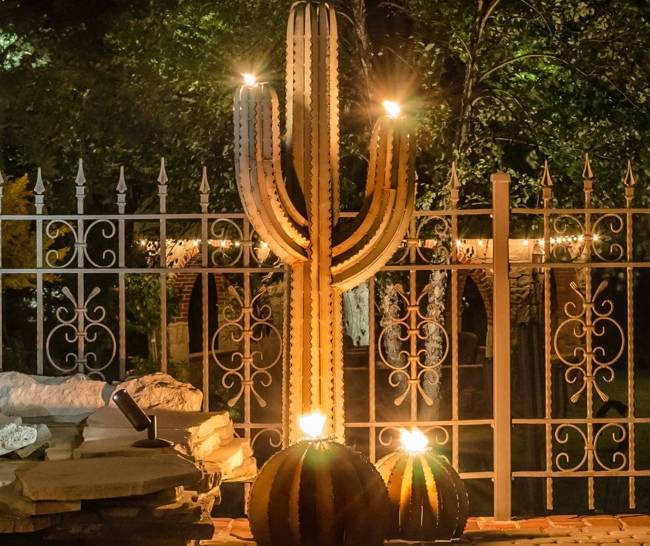 Saguaro Cactus Tiki Torch