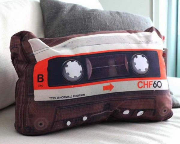 Retro Cassette Pillow