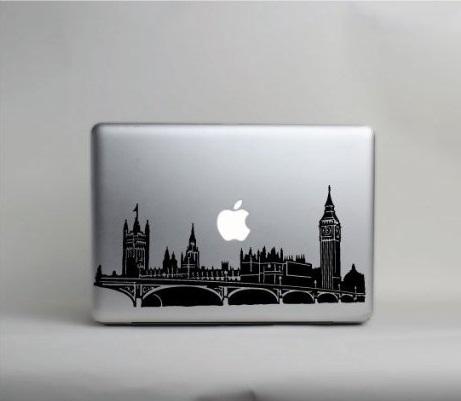 London Skyline Macbook Decal