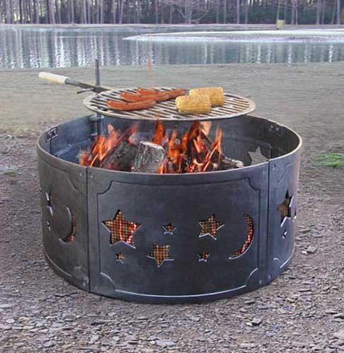 Black Cast Iron Fire Ring