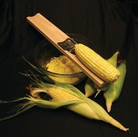 Wooden Corn Cutter And Creamer