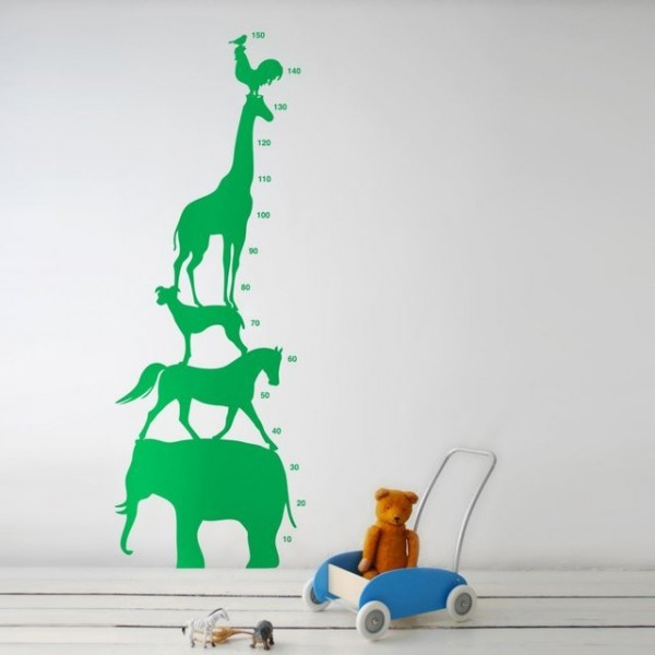 Animal Tower Wall Sticker