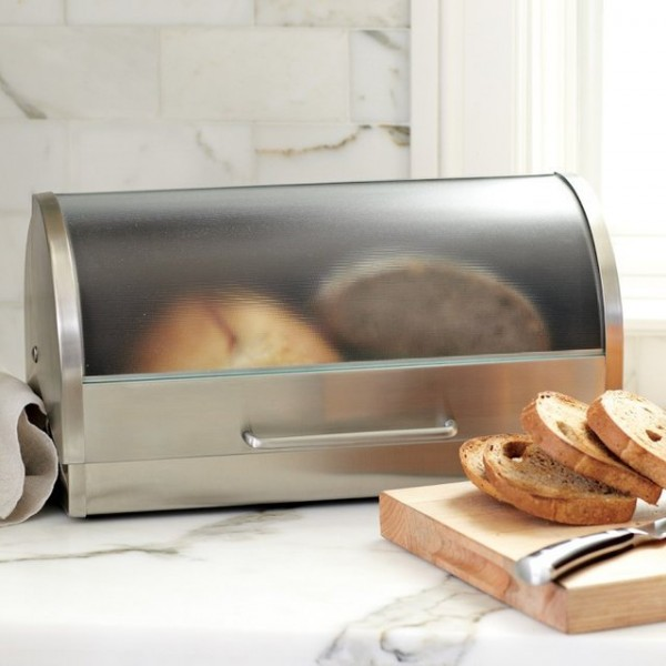 Glass & Stainless Steel Bread Box