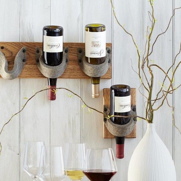 Triple Bottle Felt Wine Rack