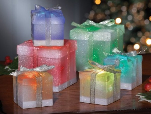 Color Changing Gift Box Ornaments