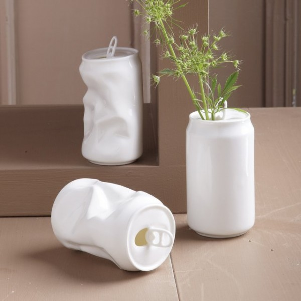 Porcelain Soda Can Vase 187 Petagadget