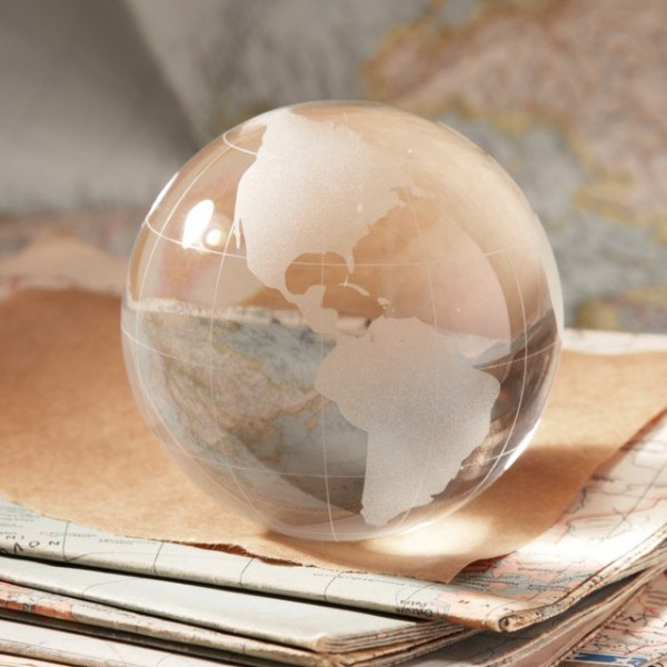 World View Globe Paperweight