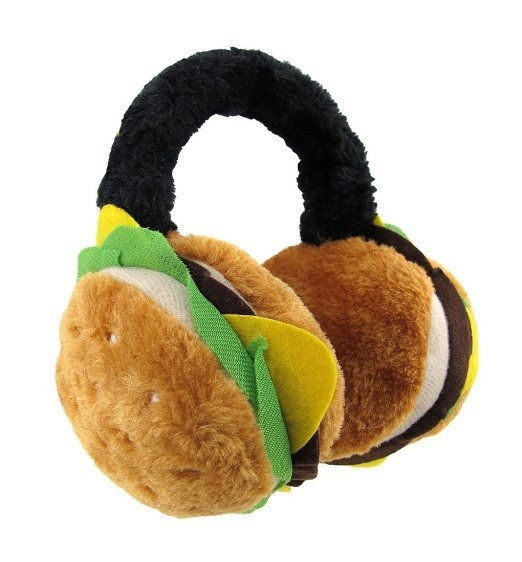 Plush Cheeseburger Earmuffs