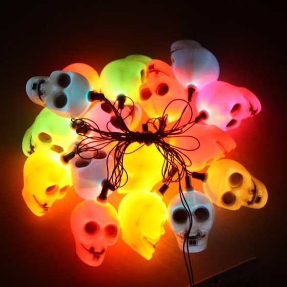 Skull String Lights