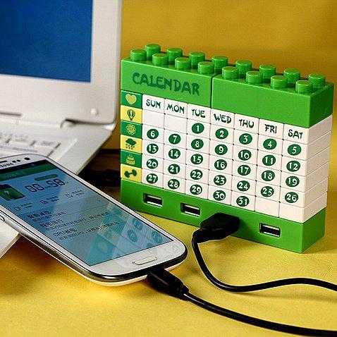 Puzzle Perpetual Calendar USB HUB