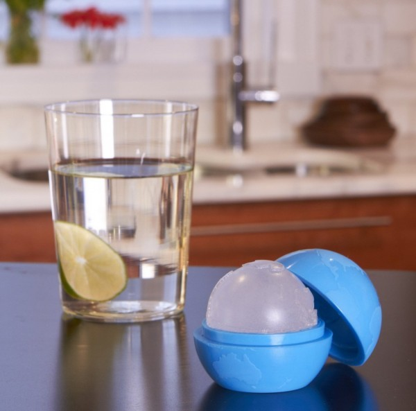 Globe Shaped Ice Cubes