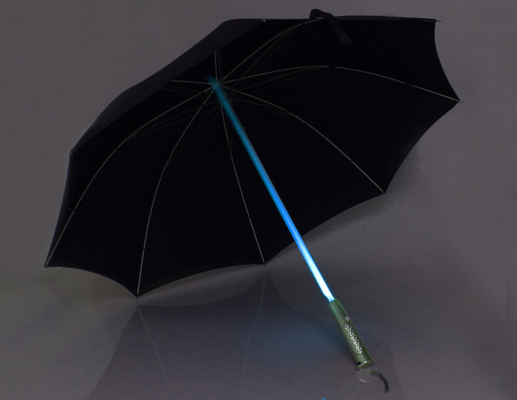 LED Light Up Shaft Windproof Umbrella