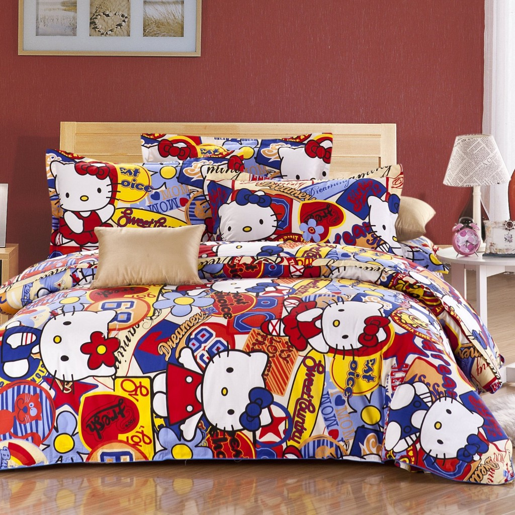 hello kitty bedroom hello kitty queel size bedding set 187 petagadget 11779