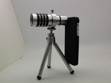 Aluminum-alloy-12-x-Zoom-Optical-Lens-Phone-Telescope-Camera-Lens-with-Tripod-for-iphone5-Free
