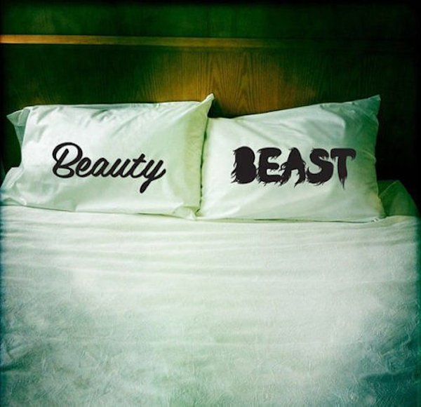 Beauty and Beast Pillowcases