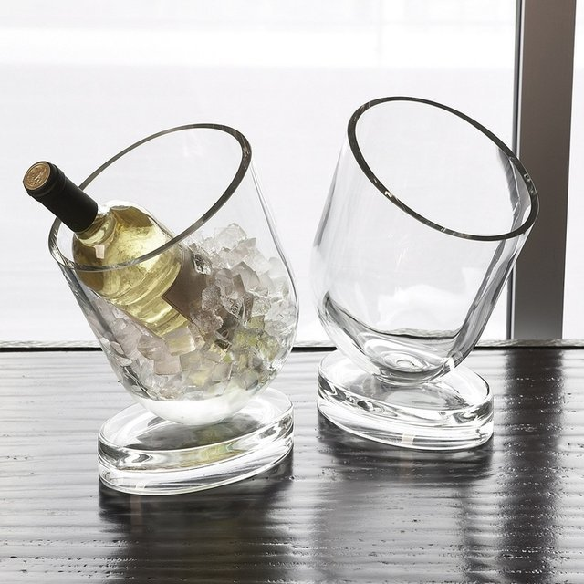 Slanted Wine Chiller by DwellStudio