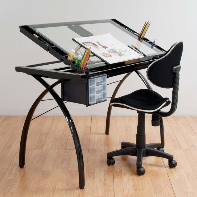 Etonnant Futura Drafting Table With Glass Top