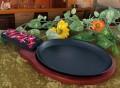 Cast Iron Fajita Platter