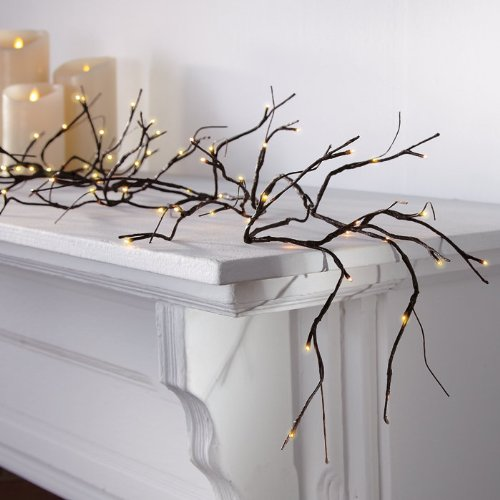 Electric Pre-lit Branch Garland