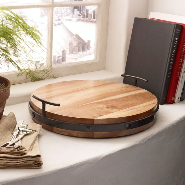 Elmer Wood Round Tray by Ralph Lauren