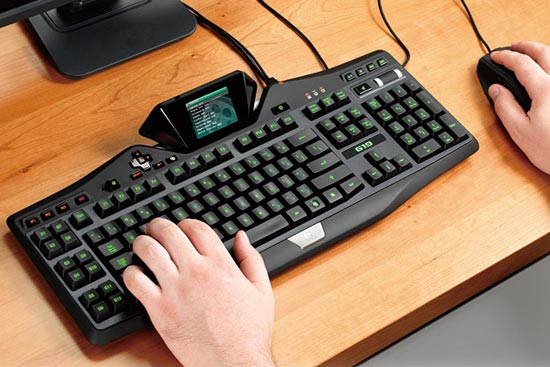 Logitech Gaming Keyboard with Game Panel Screen