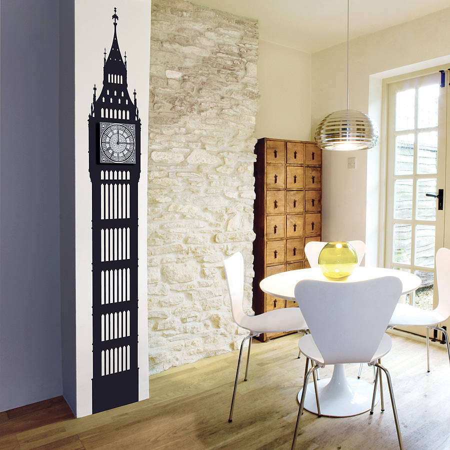 Big Ben Decal Wall Clock