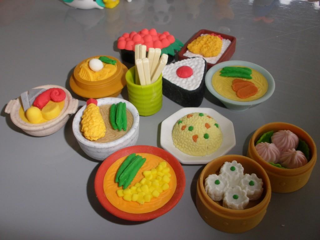 Chinese Dim Sum Erasers