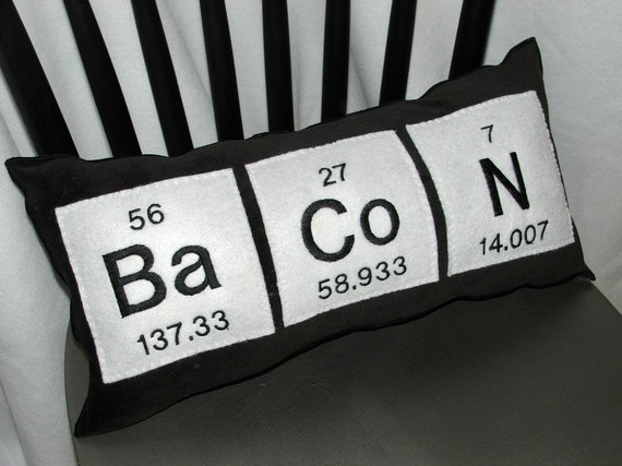 Bacon Periodic Pillow