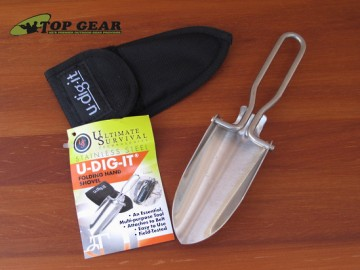 Ultimate Survival Technologies Stainless Steel U-Dig-It Folding Hand Shovel Model 20-U-DI-IT-01 copy