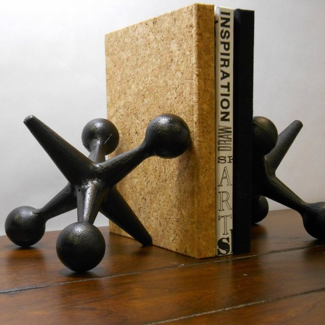Cast Iron Jacks Bookends by Urban Trading Post