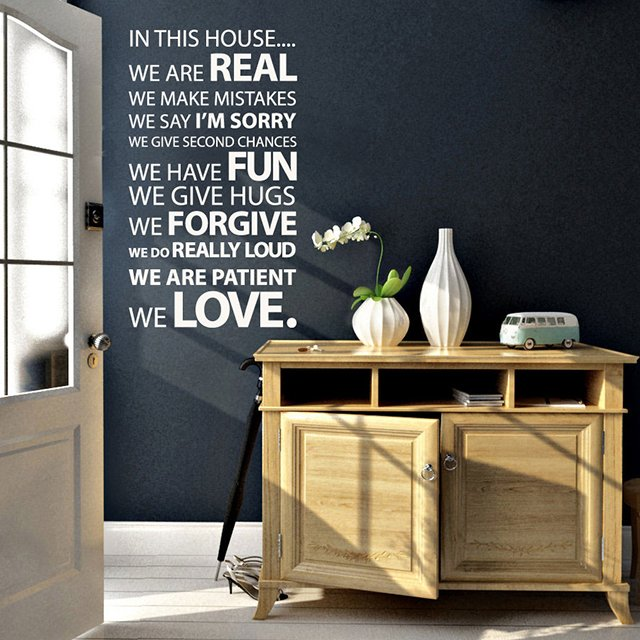In This House Vinyl Wall Sticker