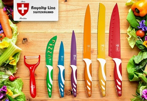 Ceramic Coated Kitchen Knife Set