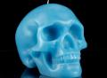 Mandible Skull Candle Blue