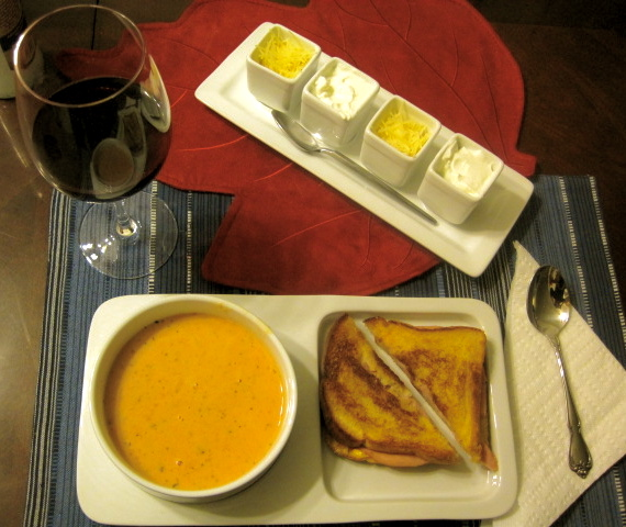Soup And Sandwich Ceramic Tray