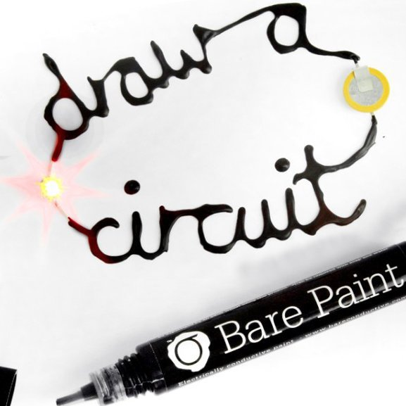 Bare Electrically Conductive Paint Pen