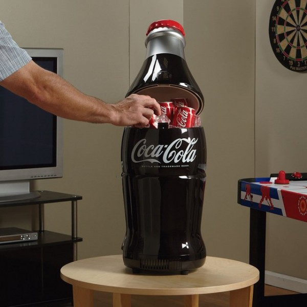Retro Coca-Cola Bottle Fridge