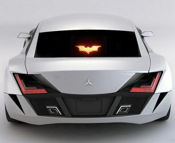 Batman Brake Light Mask