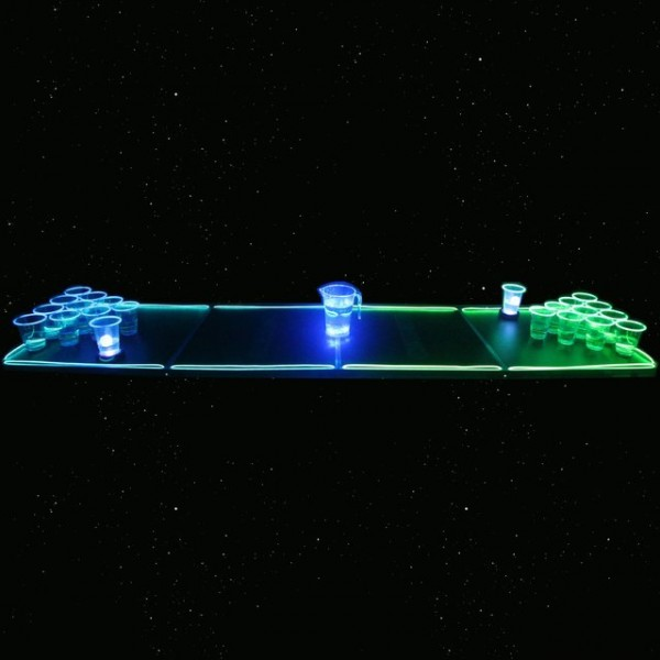 GlowPong Glowing Game Table