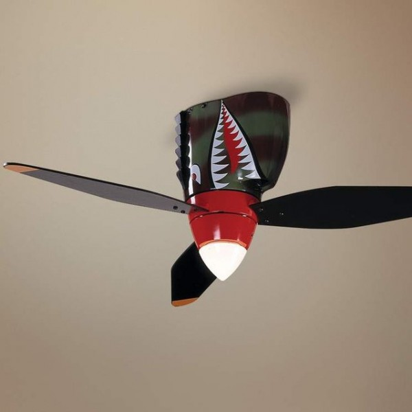 WarPlane Tiger Shark Ceiling Fan