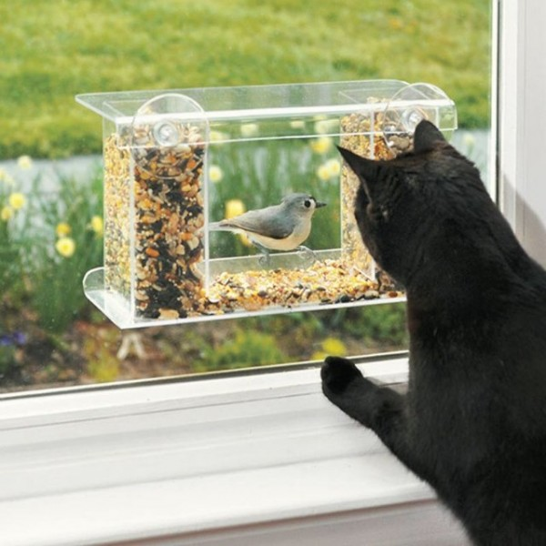 One-Way Mirror Bird Feeder