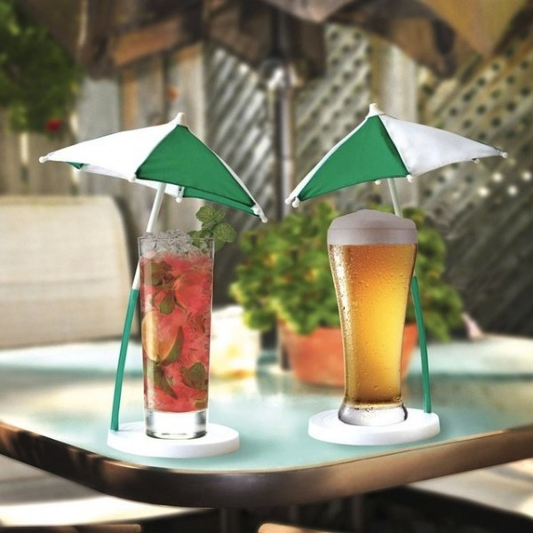 Cocktail Umbrella & Coaster Set