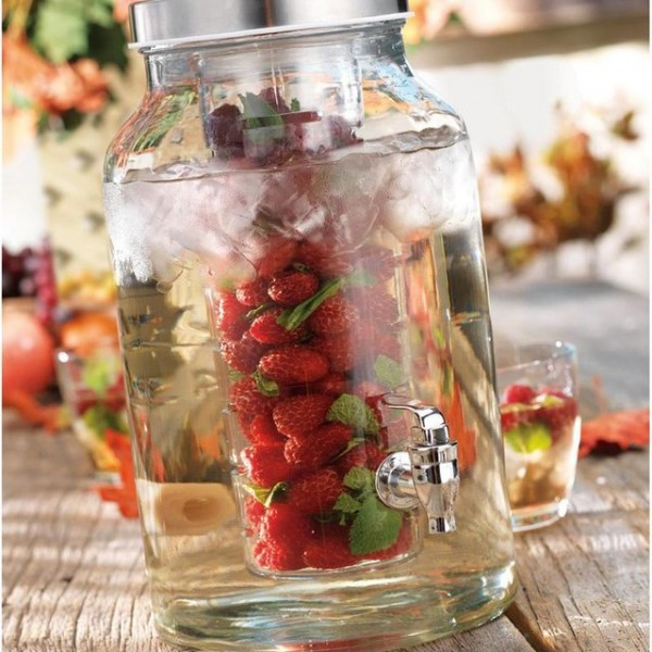 Glass Infuser Drink Dispenser
