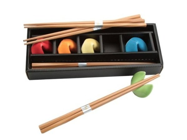 Chopsticks & Fortune Cookie Rests Set