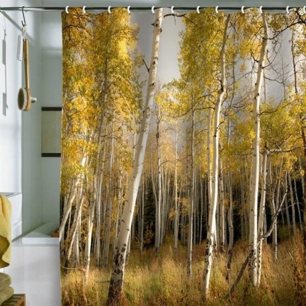 Golden Aspen Shower Curtain