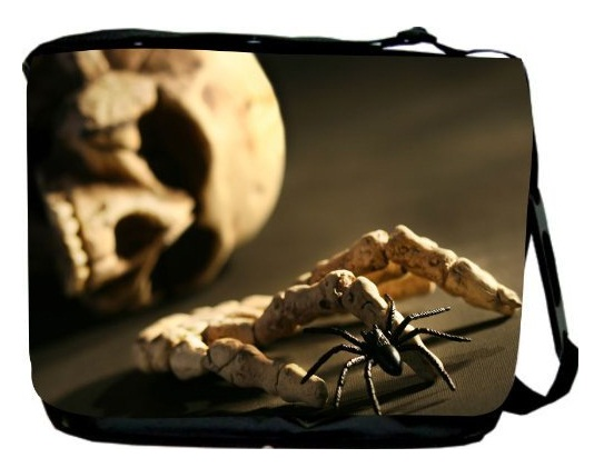 Skull and Hand Bone Messenger Bag