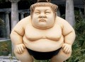 Basho the Sumo Wrestler Sculpture