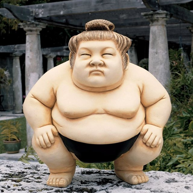 Basho the Sumo Wrestler Sculpture