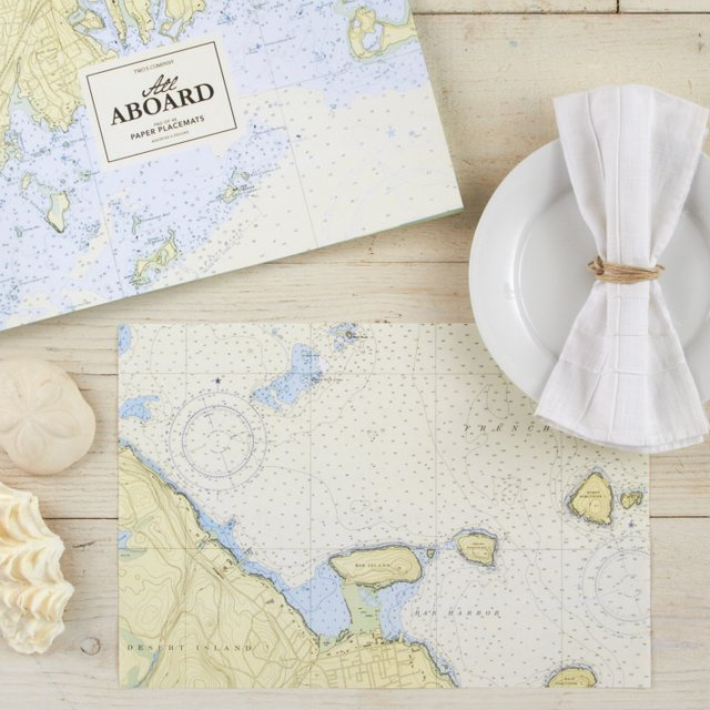 Nautical Map Placemat