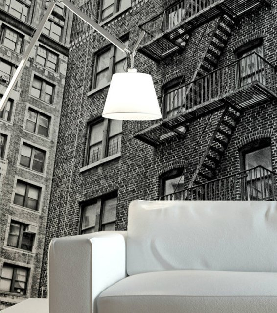 NY Apartment Wall Mural by Robert Harrison