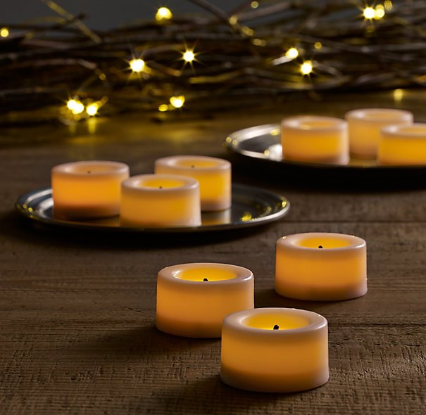 Battery-Operated Wax Flameless Tea Lights